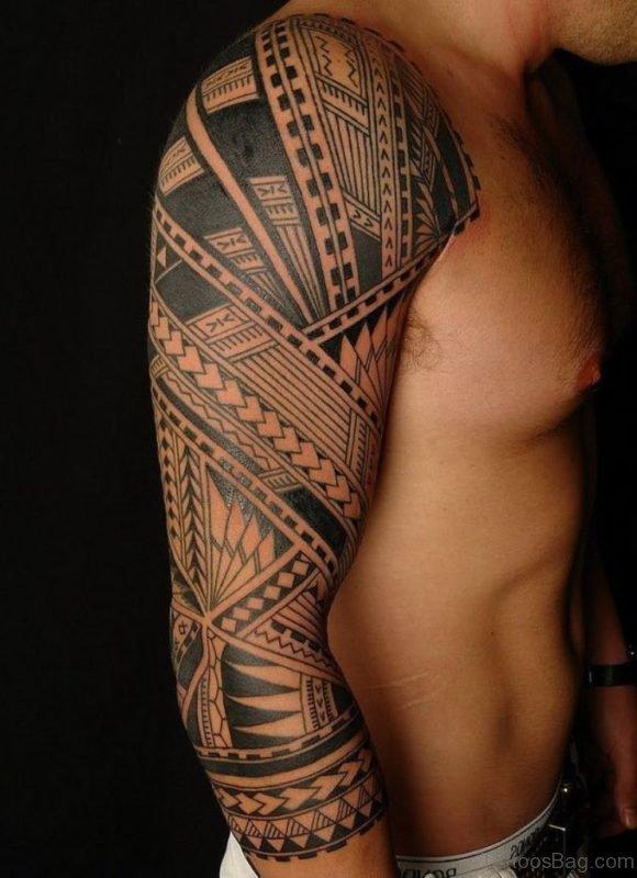 Fine Tribal Tattoo Full Sleeve for Men