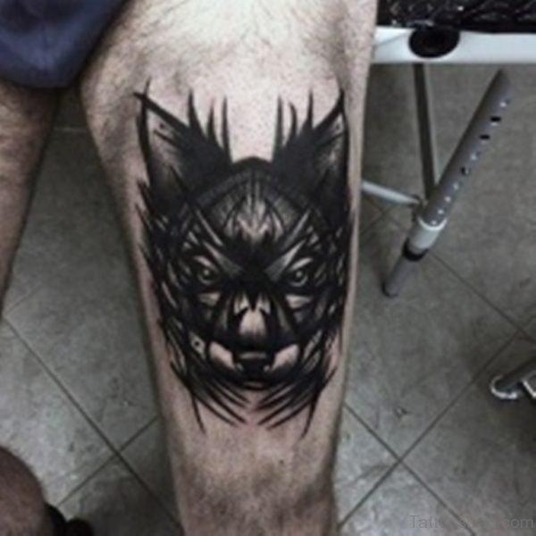 Fine Wolf Tattoo