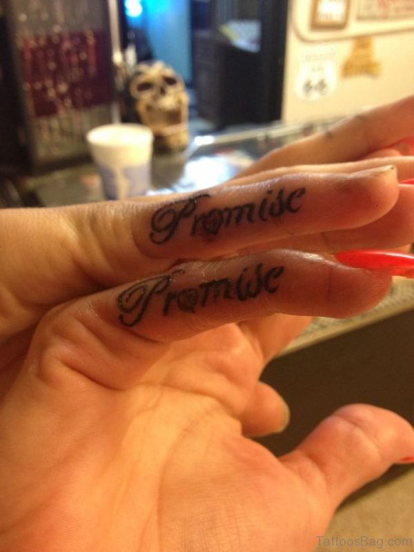 Finger Matching Promise Tattoo