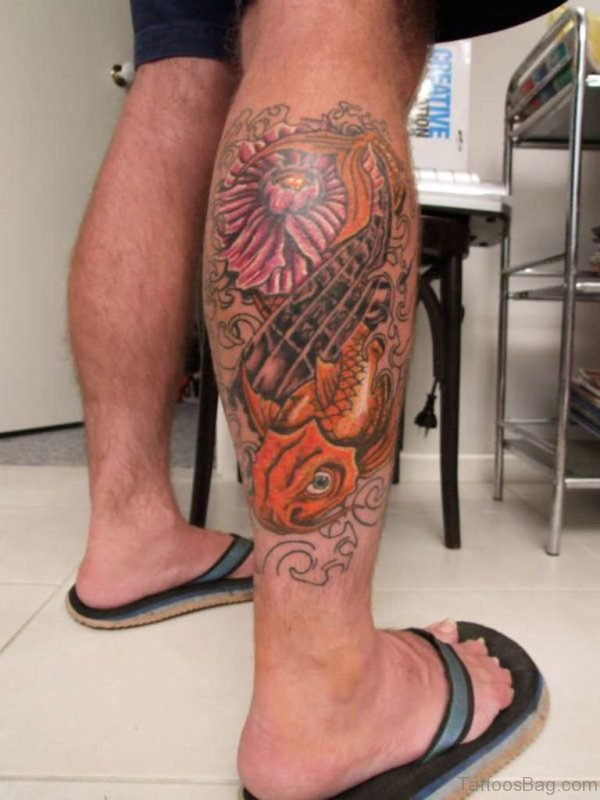 80 Magnificent Fish Tattoos For Leg