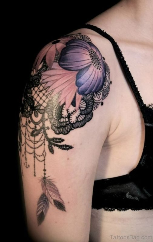 Flower And Dreamcatcher Tattoo