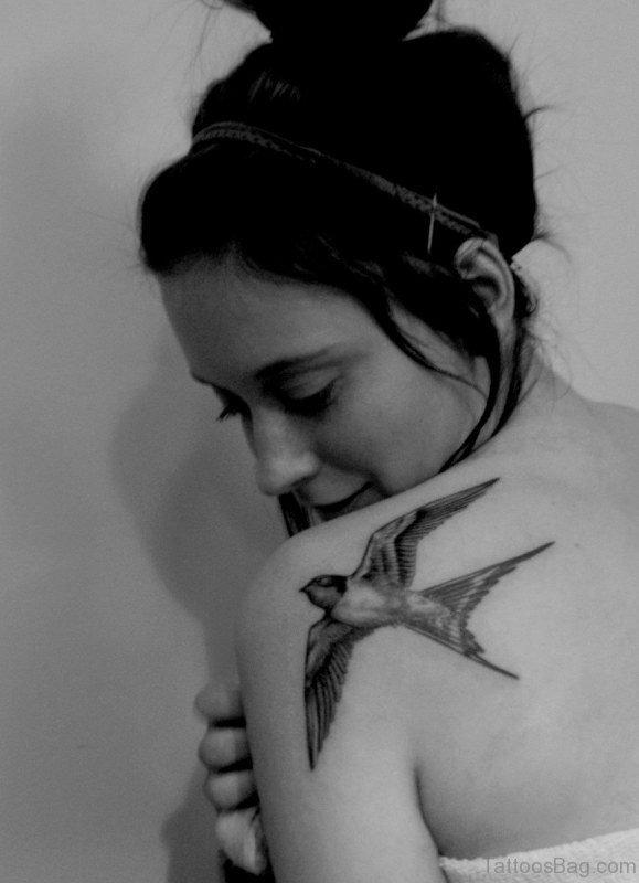 Flying Bird Tattoo