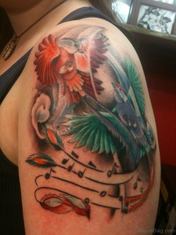 Flying Birds Musical Tattoo