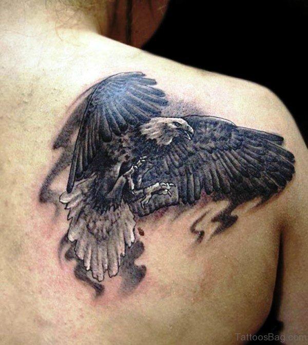 Flying Eagle Tattoo Design