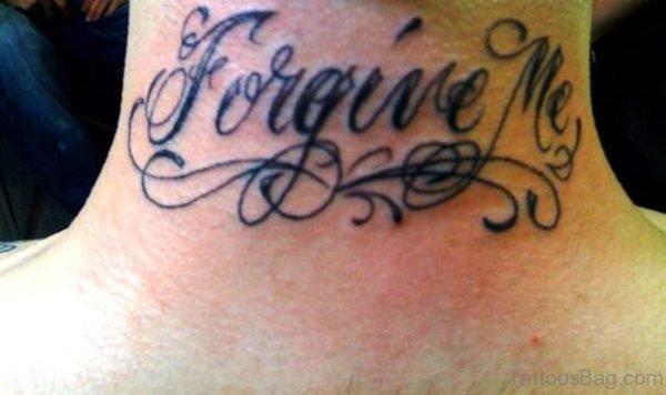 Forgive Me Neck Tattoo
