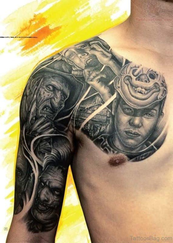 Freddy Grey Armor Tattoo