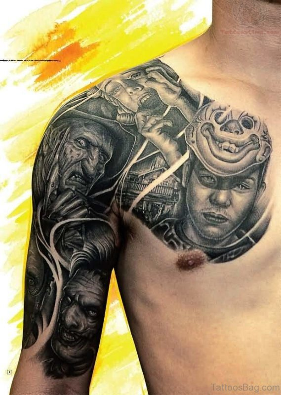Freddy Armour Tattoo On Chest