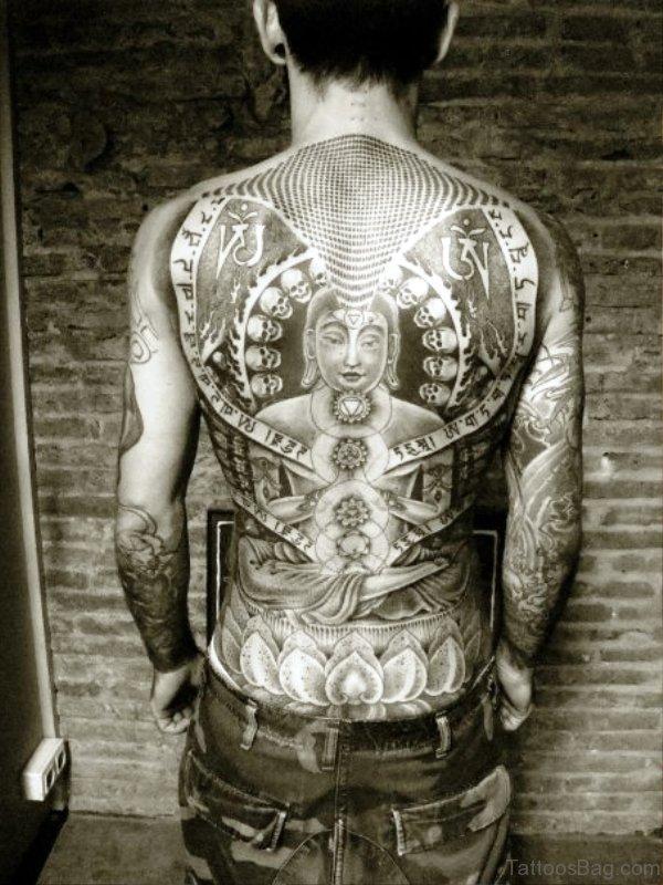 Full Back Buddha Tattoo