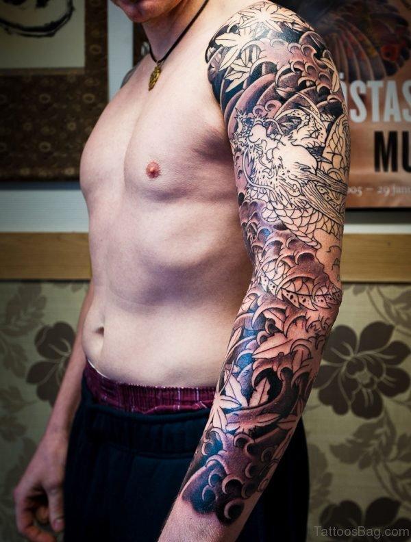 Full Sleeve Japanese Designer Tattoo