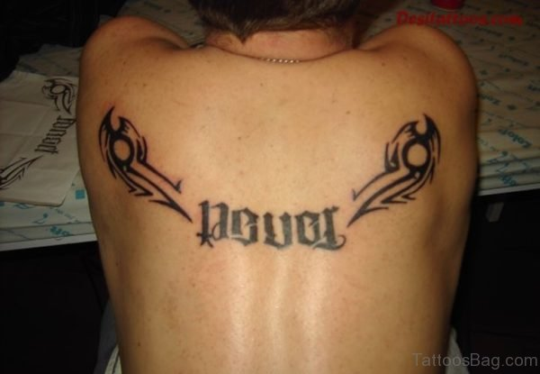 Funky Ambigram Tattoo