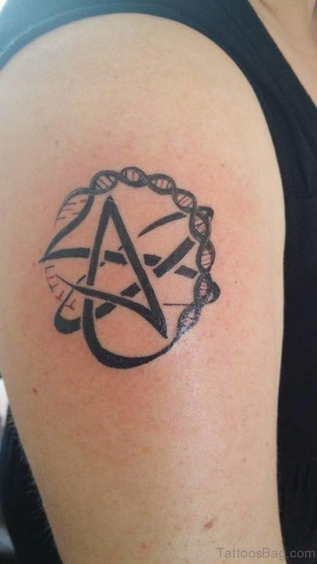 Funky Atheist Tattoo Design