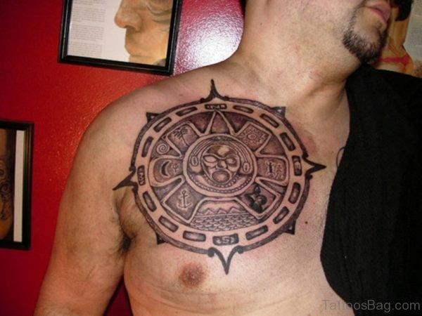 Funky Aztec Tattoo