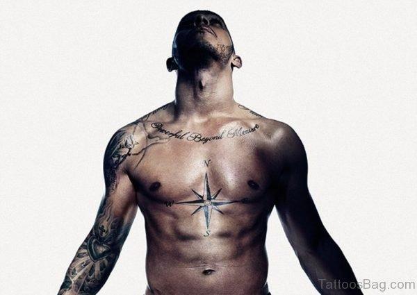 Funky Compass Tattoo
