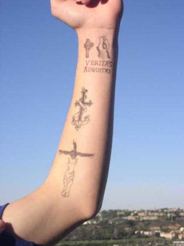Funky Cross Tattoo