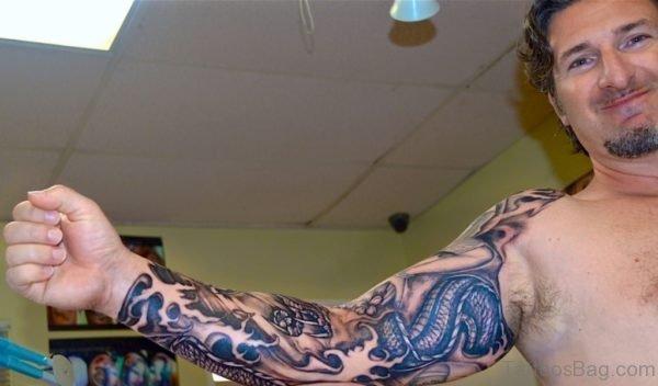 Funky Dragon Tattoo