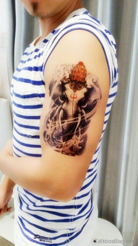 Funky Ganesha Tattoo