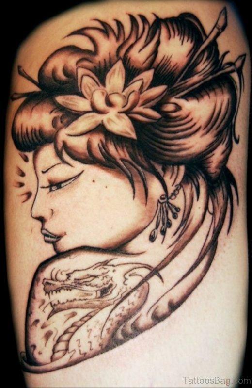 Funky Geisha Girl Tattoo