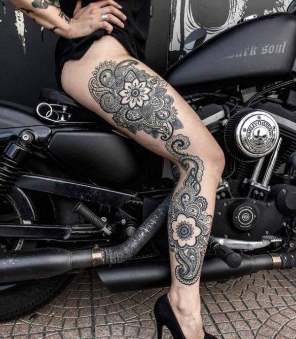 Funky Mandala Tattoo