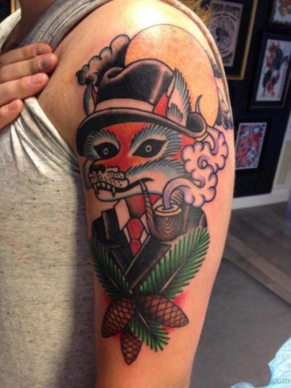 Funny Fox Tattoo
