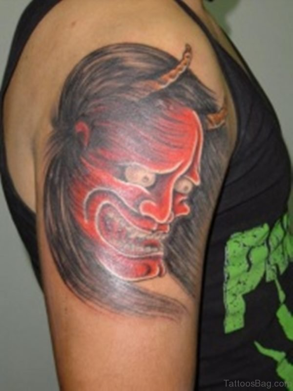 Funny Mask Tattoo