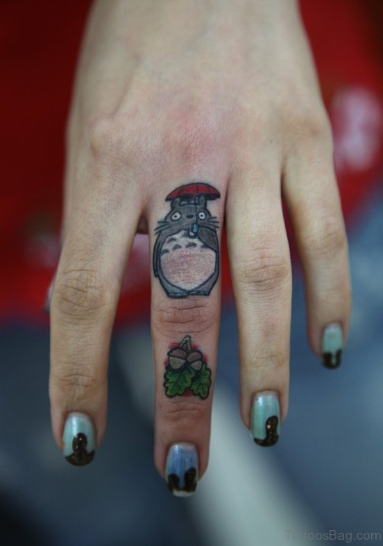Funny Tattoo On Finger