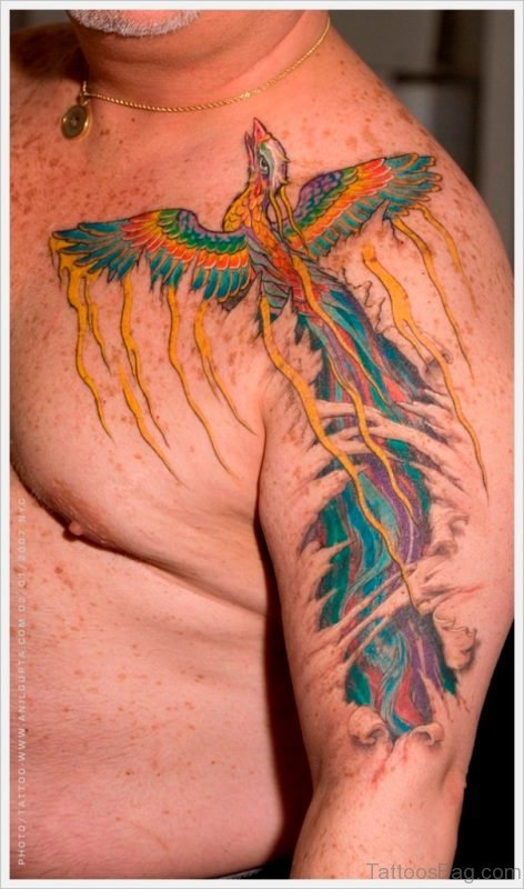 Fying Phoenix Tattoo Design