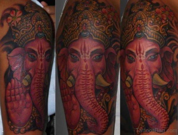Ganesha Face Tattoo Design