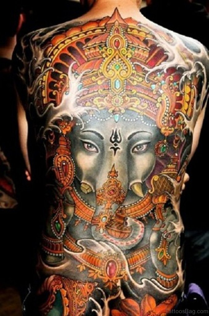 Ganesha Full Sleeve Tattoo