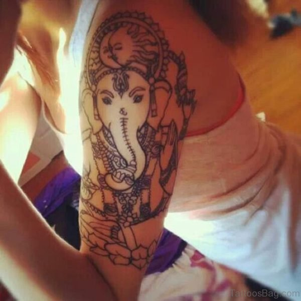 Ganesha Tattoo For Young Girls
