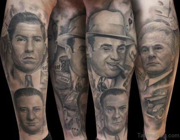 Gangstar Portrait Tattoo