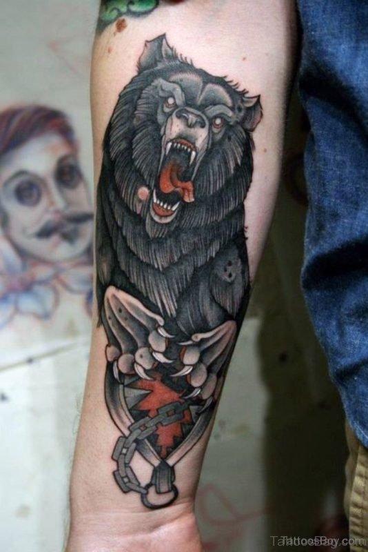 Garceful Wolf Graceful Wolf Tattoo Tattoo 1