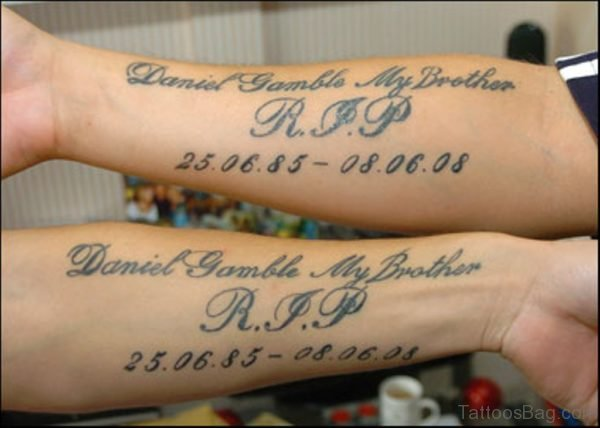 Graceful Wording Tattoo