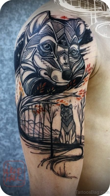 Garecful Wolf Tattoo