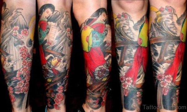 Geisha Bridge Tattoo