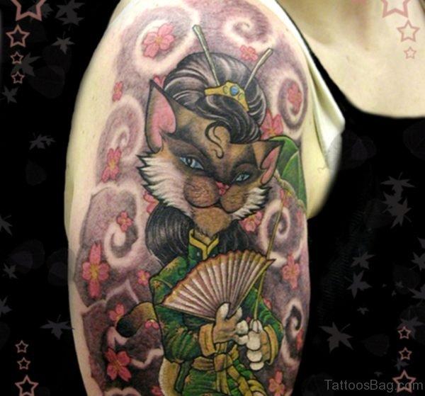Geisha Cat Tattoo