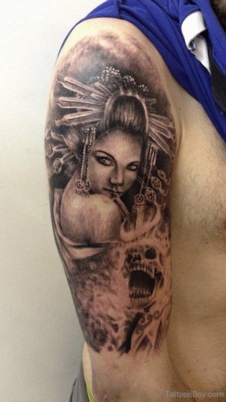 Geisha Girl Tattoo Design