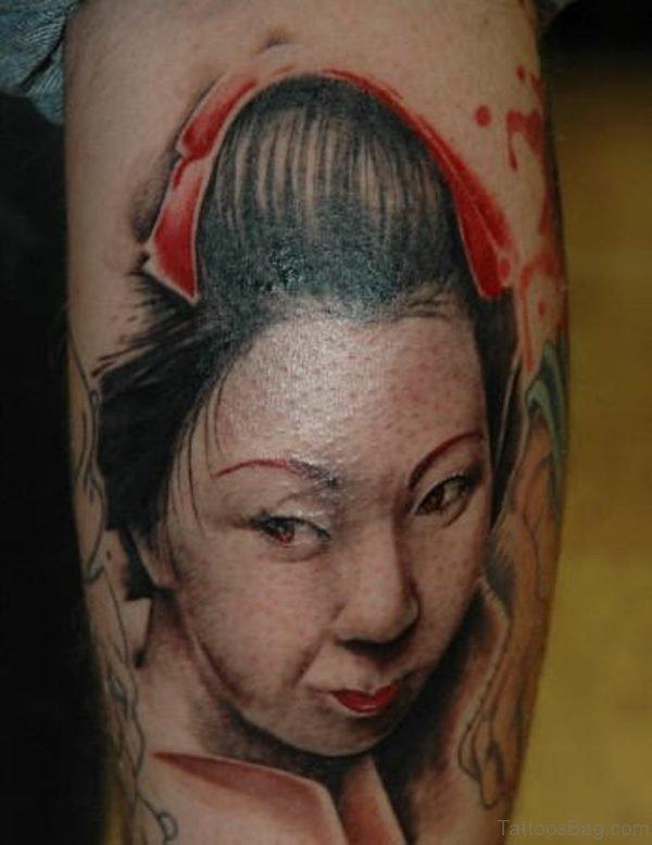 Geisha Girl Tattoo Image