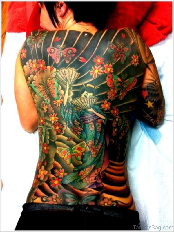 Geisha Tattoo Design For Women