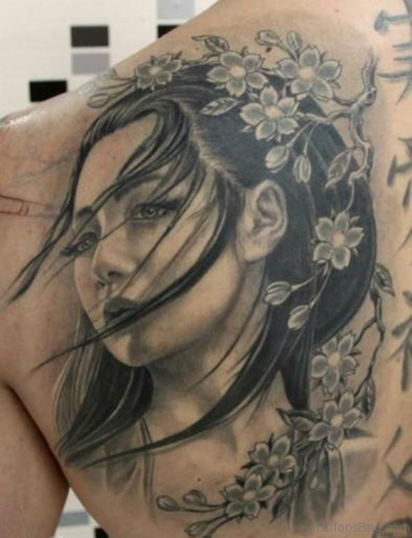 Geisha Tattoo Design Image