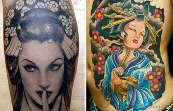 Geisha Tattoo Image