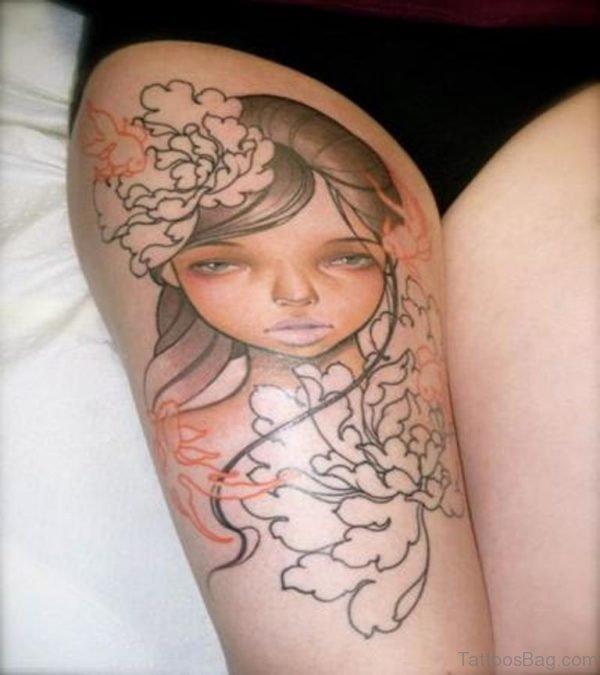 Geisha Tattoo Portrait Tattoo