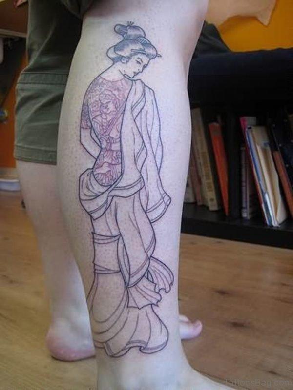 Geisha Tattoo Design