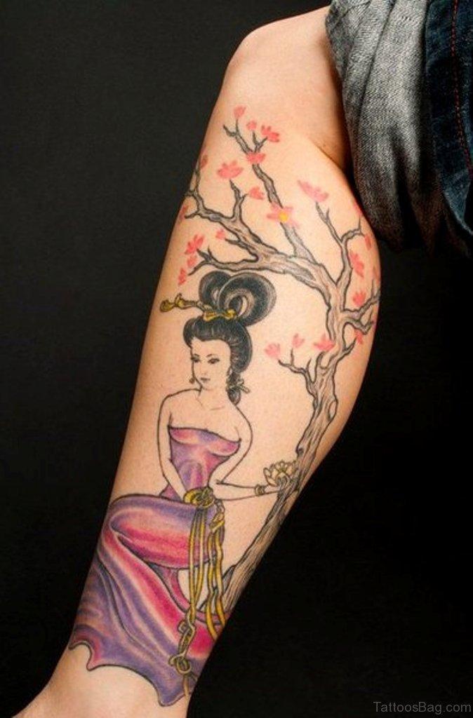 Cherry Blossom Back Tattoo Tumblr