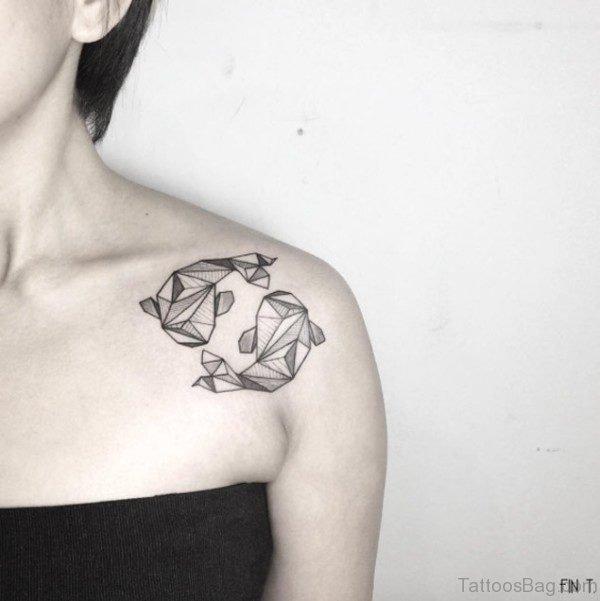 Geometric Shark Tattoo