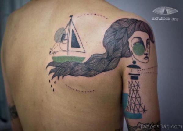 Geometric Woman Tattoo