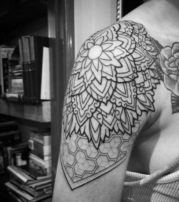 Geometrical Shoulder Tattoo Design