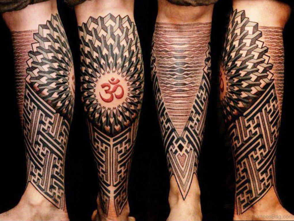 Geometric Tattoos Design: 49 Superb Geometric Tattoos On Leg