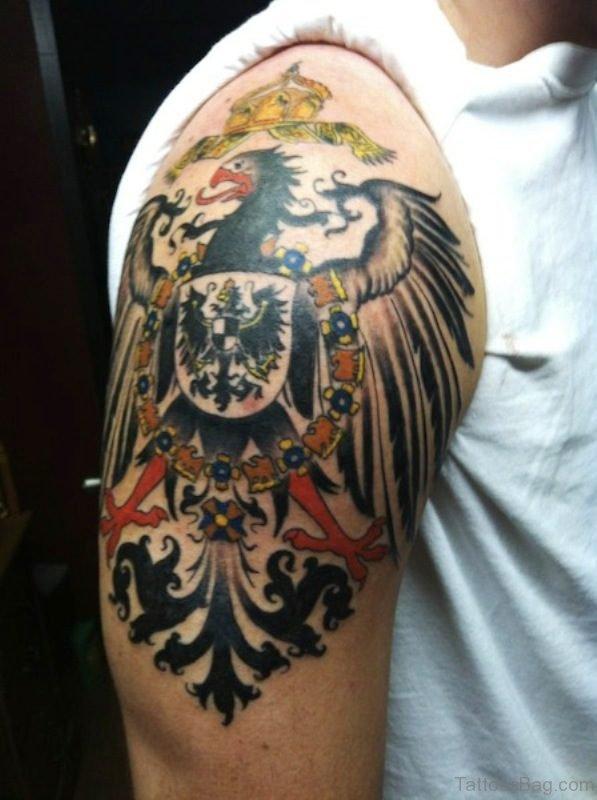German Imperial Eagle On Shoulder