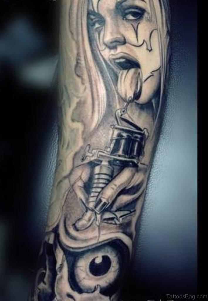 50 mind blowing portrait tattoos on arm for Girlfriend tattoo designs