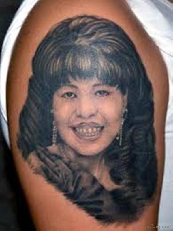 Girl Portrait Tattoo Photo